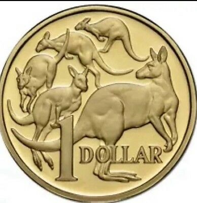 1x 2015 Uncirculated of Aust $1 Mob of Roos Rare Straight From Mint Bag.