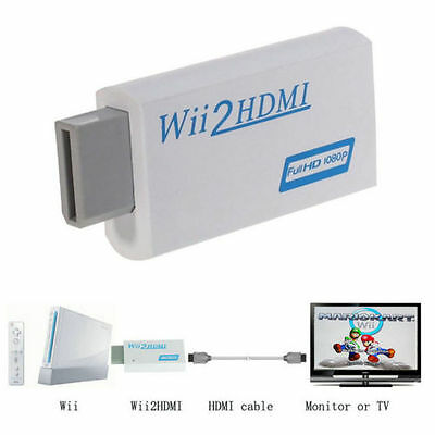 1080p Wii to HDMI Converter Mini 3.5mm Adapter Wii2HDMI Audio HD Video Output OZ