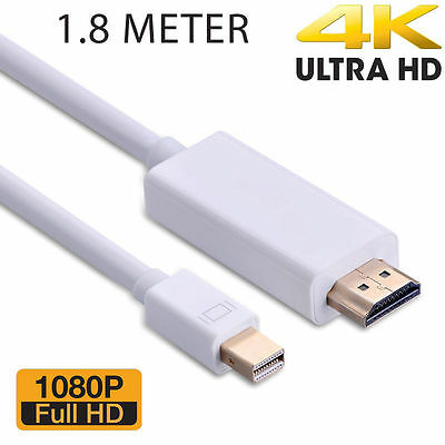 Mini DisplayPort to HDMI Display Port Cable Adapter for Mac Pro MacBook Air iMac