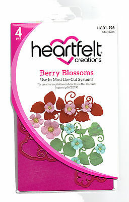 Heartfelt Creations Berry Blossoms Die for Cardmaking,Scrapbooking, etc