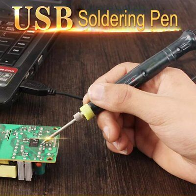 Mini Portable USB 5V 8W Electric Powered Soldering Iron Pen/Tip Touch Switch HR