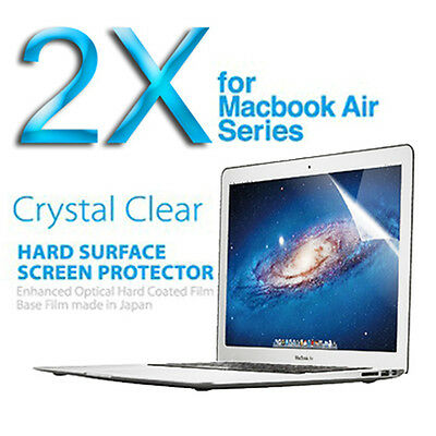 "2X 13"" Crystal Clear LCD Screen Protector for Apple 13"" Macbook Air"