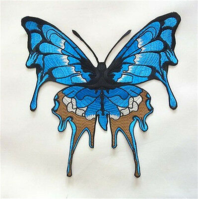 Large Embroidery Butterfly Sew Iron On Patch Badge Embroidered Fabric Applique