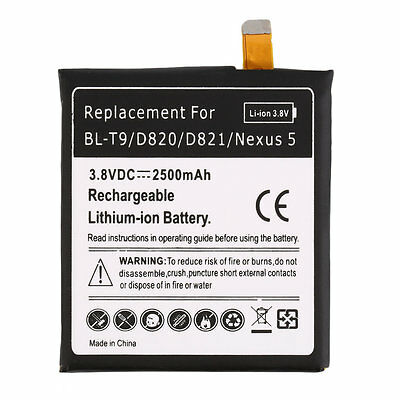 Black 2300mAh Li-Ion Battery Replacement for LG BL-T9/NEXUS 5 Quality New AB