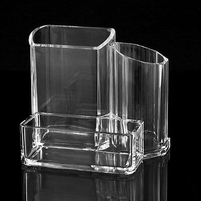Clear Acrylic Desk Cosmetic Lipstick Brush Holder Makeup Storage Case BF