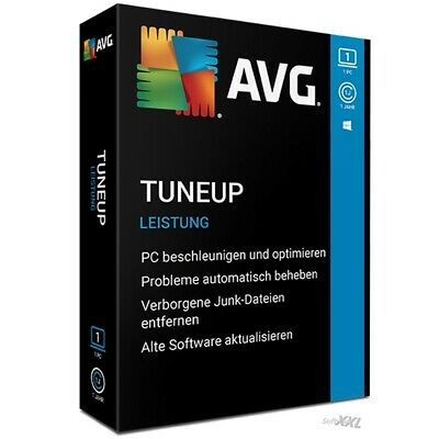 AVG PC TuneUp 2019 * 2 PC 1 Jahr * Vollversion Lizenz