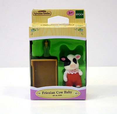 Sylvanian Families Friesian Cow Baby +3A Cod.3556