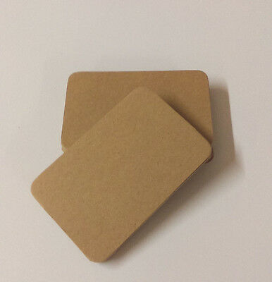 Round Cornered Brown Kraft Business Card Blanks. Save The Date Card Blanks
