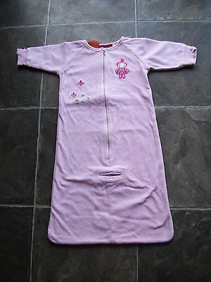Baby Girl's Sprout Pink Velour Sleeping Bag Size 00 VGUC