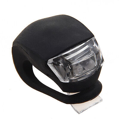 New Flexible Waterproof Double Red LED Light with Black Silicone for Bicycle BF