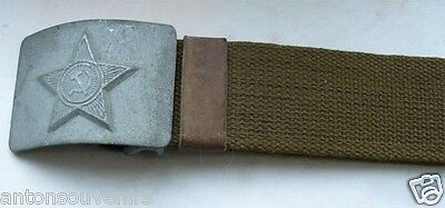 Authentic Soviet Russian Military Soldier Army belt canvas with steel buckle NEW