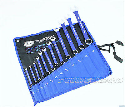 12pc Metric Combination Spanner Wrench Tool Set of 6-32mm Crv Jumbo Spanners new