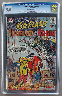 BRAVE and the BOLD #54 ORIGIN First TEEN TITANS 1964 TNT TV Scarce CGC VG/FN 5.0