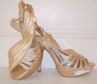 RP£110 SIZE 3 4 5 6 7 7.5 PACO MENA TAUPE BEIGE DIAMANTE SLINGBACK SHOES SANDALS