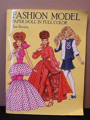 New 1993 FASHION MODEL PAPER DOLLS In Full Color Uncut By Tom Tierney