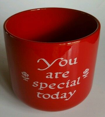 """""""You Are Special Today""""  Red Jar/Vase Waechtersbach Germany"""