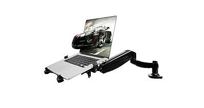 ThingyClub 2 In 1 Adjustable Swivel Laptop or Monitor Arm Desktop Mount Stand