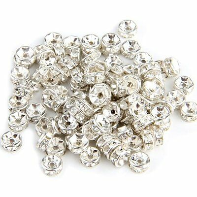 100 X Findings Silver Tone Metal Spacers Caps Beads 6mm HOT BF
