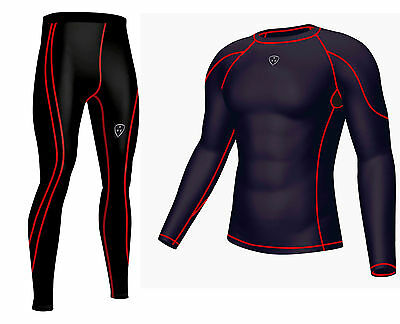Mens Compression Base layer Full Sleeve  Skin Top+ Long tight pant