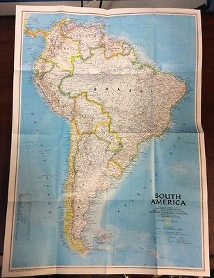 South America / Amazon 1992 2 Sided Map National Geographic