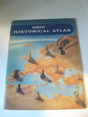 1968 HAMOND HISTORICAL ATLAS of the WORLD MAPS Different time periods