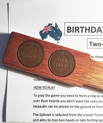 1936 Birthdate Penny Two-Up Set With 2 Australian Pennys/coins Great Gift