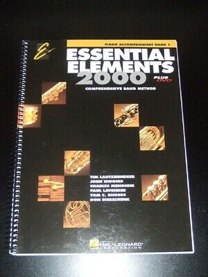 ESSENTIAL ELEMENTS 2000 Piano Accompaniment Book 1 NEW