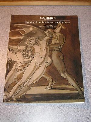 Auction Catalog SOTHEBY'S Drawings from Britain & the Continent 1995 Sale LN5410