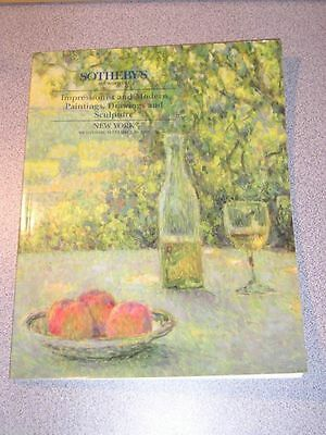 Auction Catalog SOTHEBY'S Impressionist Modern Paintings Drawings 1994 Sale 6596