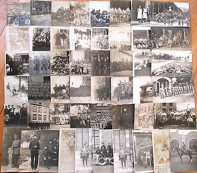 French Military: Collection FIFTY (50) Realphoto Postcards, circa 1910/20 - #1