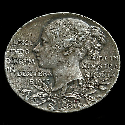 1897 Queen Victoria Official Diamond Jubilee Silver Medal