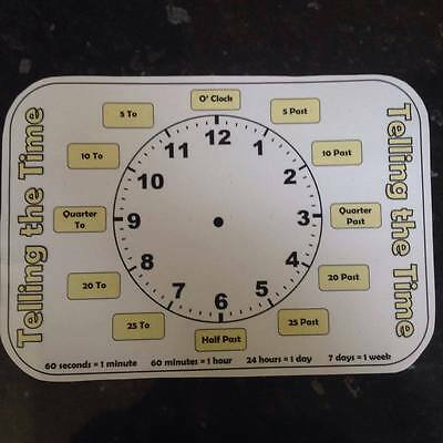 learn to tell the time - write on clock - teaching children analogue time