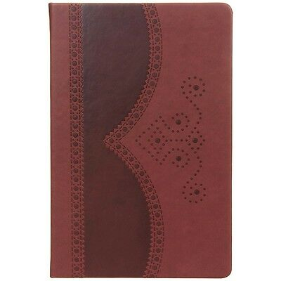 Brand New A5 Ted Baker Brown Brogue Notebook Gold Leaf Pages Gift Office Diary