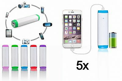 5x LOT 2600mAh Portable External Battery Charger Power Bank for Cell Phones