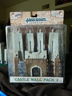 Mage Knight Castle. Wall Pack 2. New complete D&D mini RPG terrain pathfinder