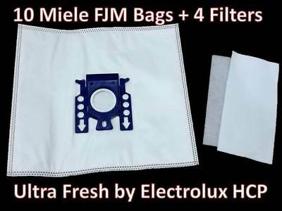 10 Miele FJM Micro filtration Vacuum Bags 4 Filters NEW Sealed 2 Packs of 5