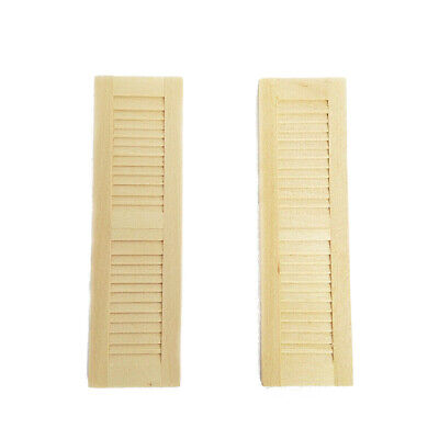 Dollhouse Miniature Unpainted Window-Shades Shutters Louver Wall Decoration