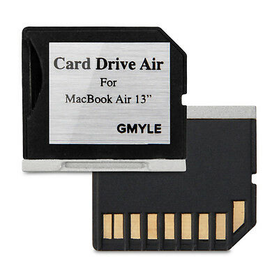 GMYLE Perfect Fit Mini drive Storage Adapter for Macbook Air 13