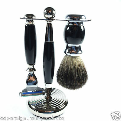 Vintage Quality  3 Piece Shaving Set. Lovely Heavy Quality Set With Mach 3 Head.