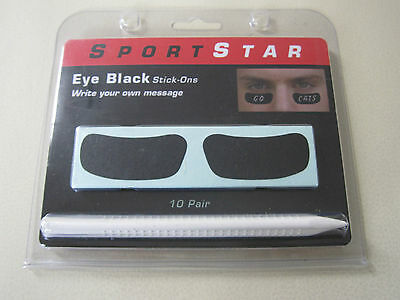 SportStar Pro Style Custom Eye Black Out Stick Ons! Football Baseball WRITE ON
