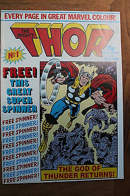 Marvel Mighty Thor Magazine - Weekly Comic Issue 1 April 20 1983 Vintage