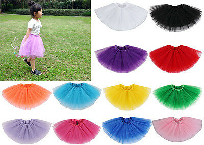 Baby Toddler Girl 5 Layer Tulle Ballerina Tutu Skirt Party Ballet Dance Dressup