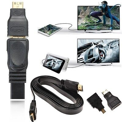 HDMI Cable & HDMI to Mini & Micro Adaptor Kit Set for Android Tablet PC TV 1080P