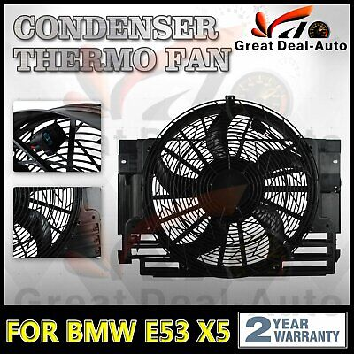 Genuine Machter Condenser Thermo Fan for E53 X5 BMW M54 M62 N62 2000-2006 Petrol
