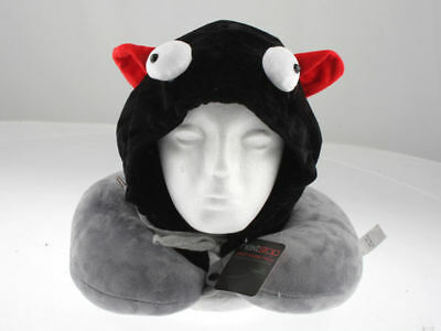 next stop hooded travel neck pillow beanie devil