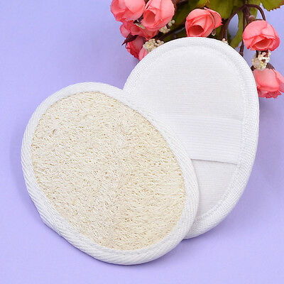 2 Pièces Naturel Loofah Luffa Coussin Bain Brosse Exfoliant Douche Ponceuse Neuf