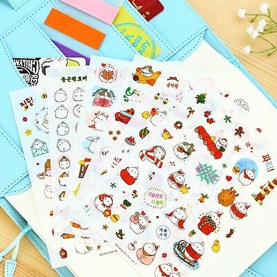 Adorable Cute Cartoon Molang Rabbit Sticker Diary Scrapbook Deco Decal DIY Craft