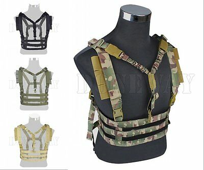 MOLLE Tactical Chest Rig Hunting Vest Harness with QD Sling Airsoft Paintball