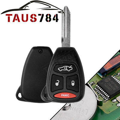 Keyless Entry Remote uncut Control Car Key Fob Replacement for Chrysler KOBDT04A
