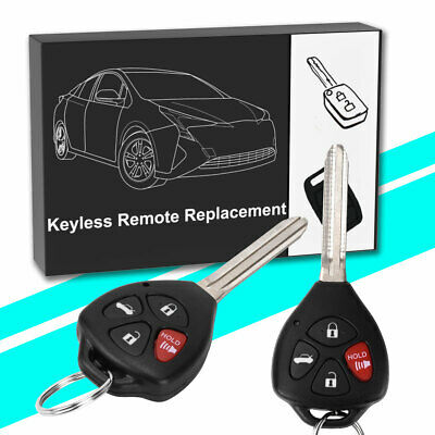 2x New Uncut Remote Head Keyless Entry Combo Transmitter Key Fob For KOBDT04A